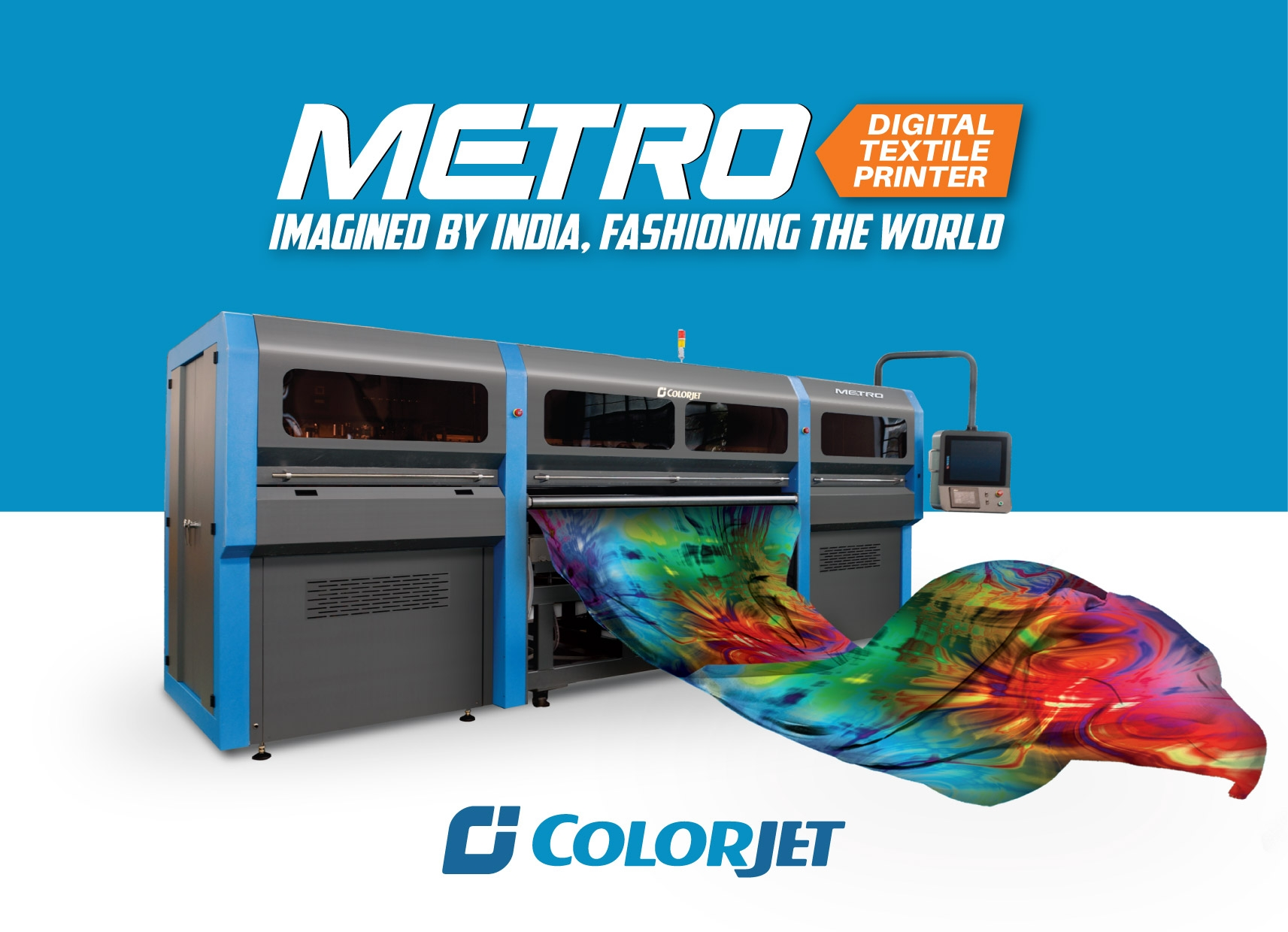 Indian leader in digital textile printing Colorjet targeted the South East Asian market at ITMA Asia