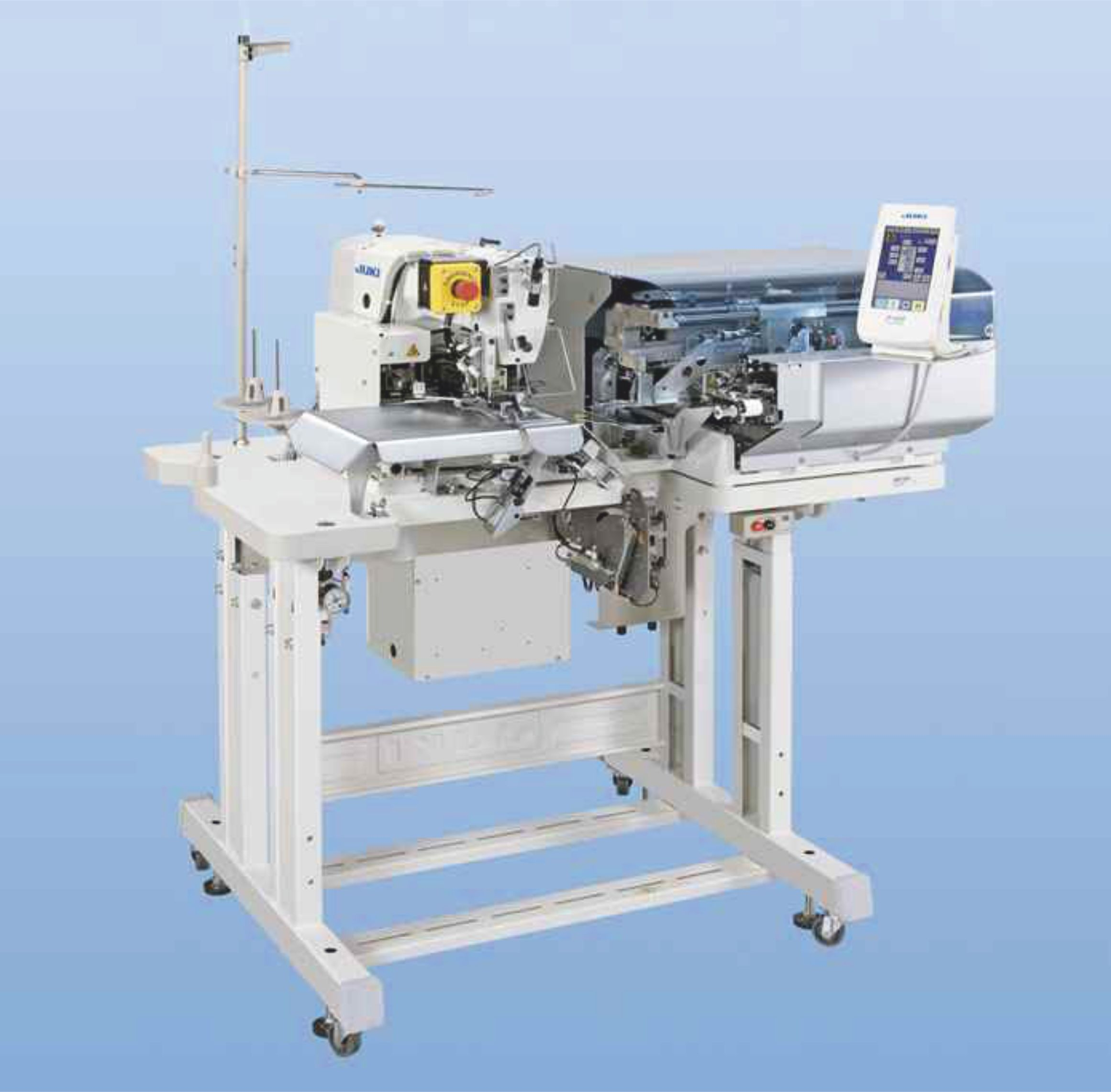 JUKI AB-1351 is a Single Needle Automatic Belt Loop Attaching Machine