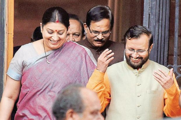Yesterday HRD, Today TEXTILES: Smriti Irani is the New Textiles Minister