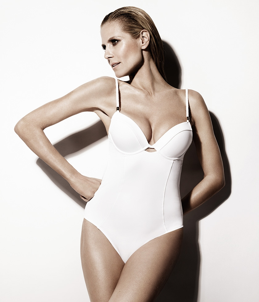 Look Sensational In A White One Piece Like Heidi Klum