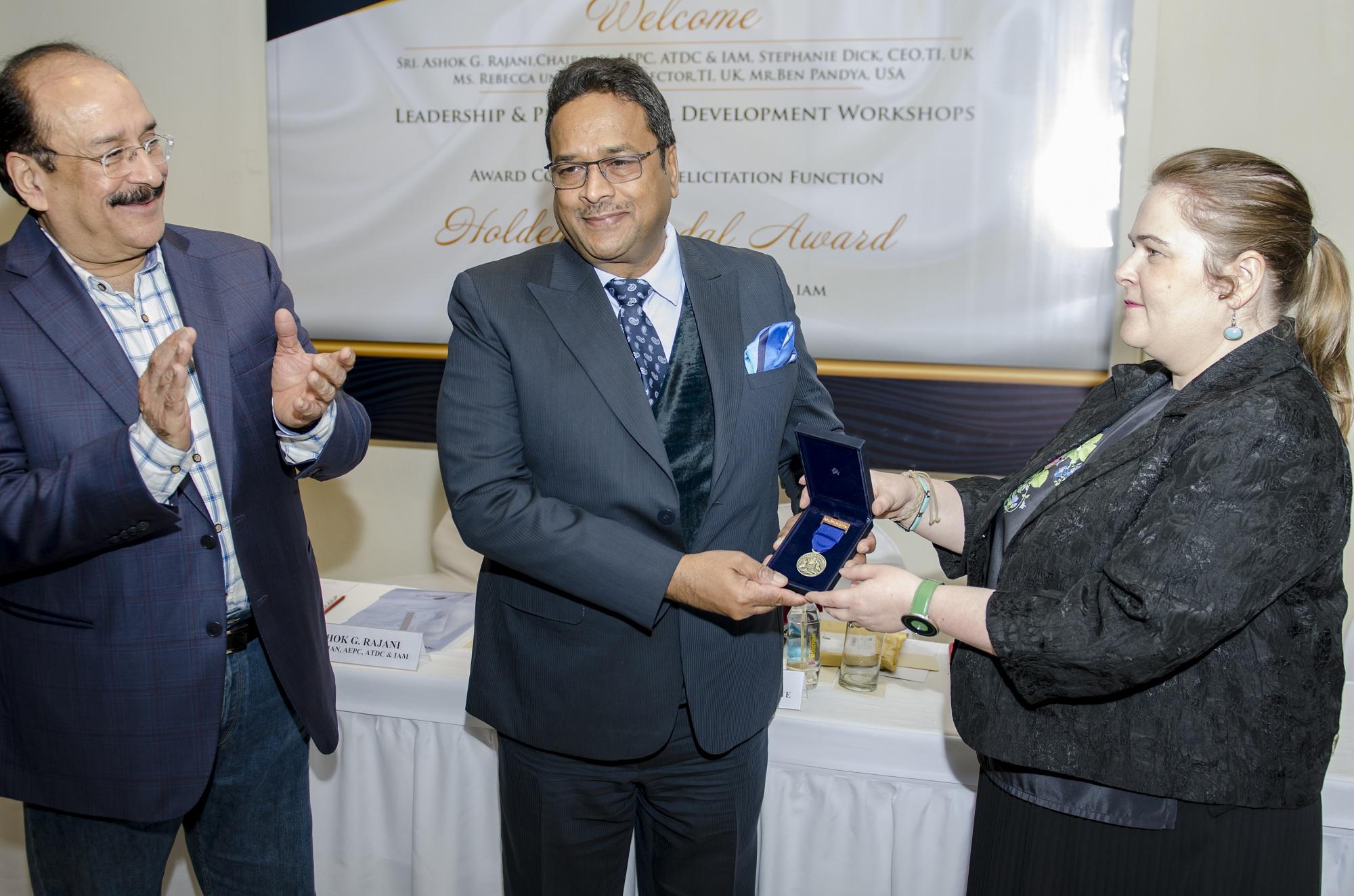 Dr. Koshi at International Holden Medal Award of TI, UK