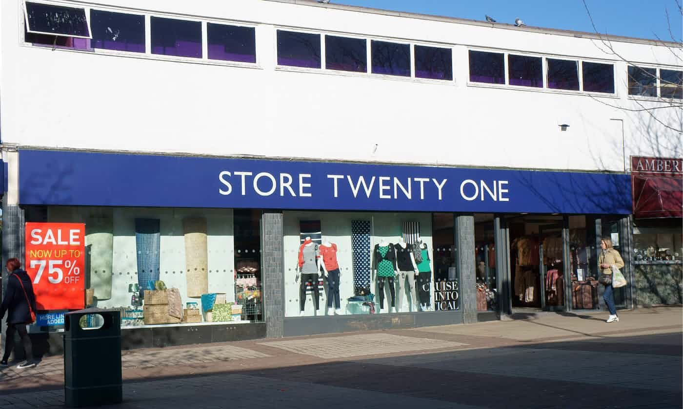 Store Twenty One falls into liquidation with the loss of 900 jobs