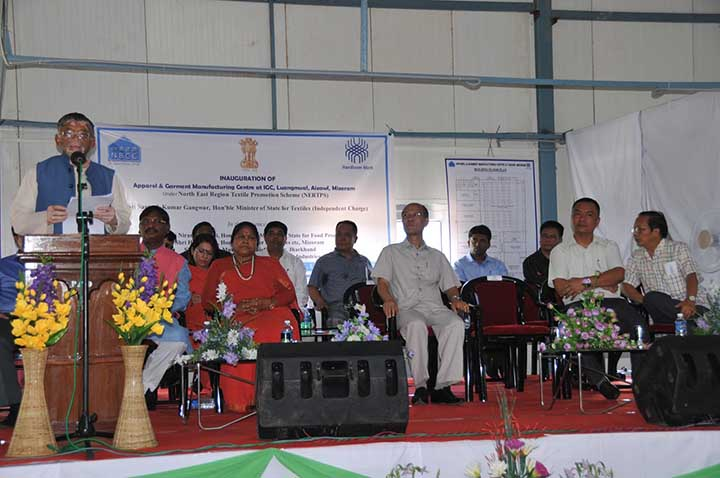 Santosh Gangwar Inaugurates apparel manufacturing unit in Mizoram
