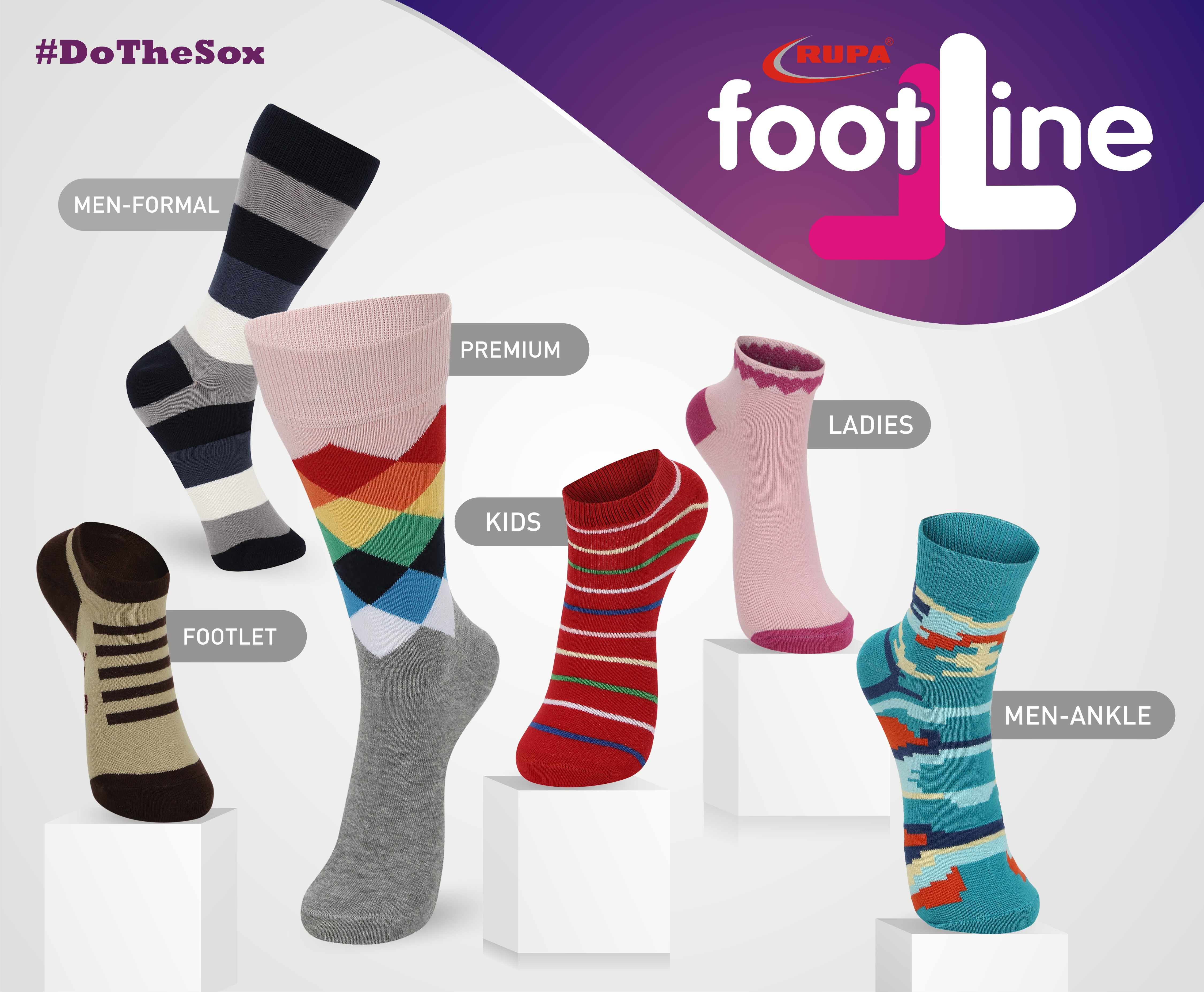 Rupa Footline launches a brand new collection of Designer Socks
