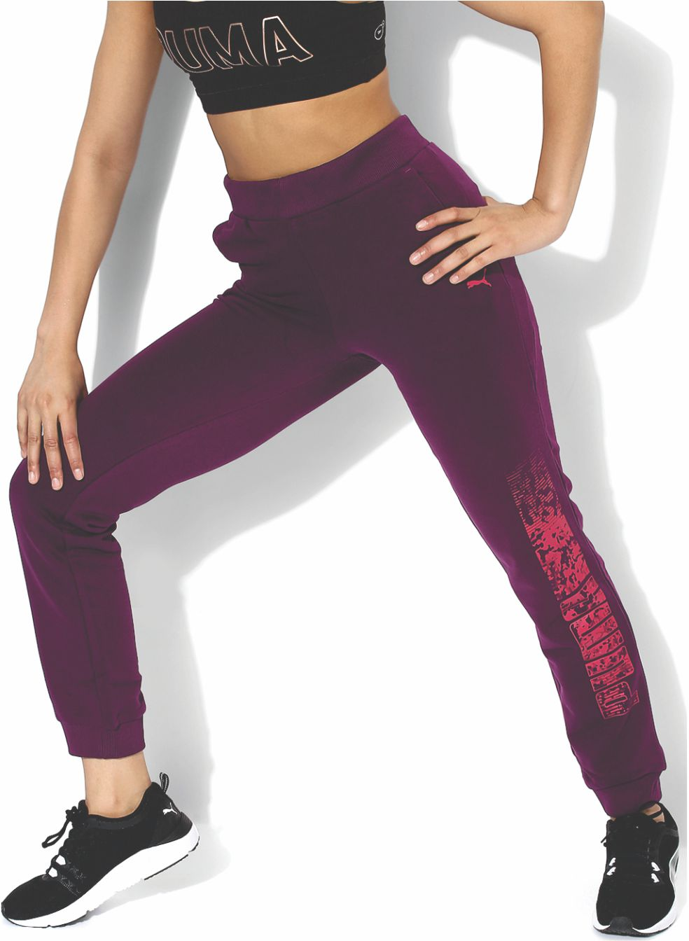 714025e7b8 Tailored in slim fit from cotton for a featherlike feel, these pants will  go well with a sports bra and running shoes. Rs. 2299