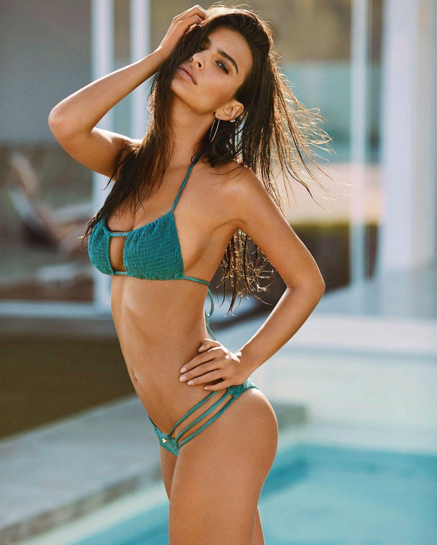 Stunning Emily Ratajkowski peels off her clothes to promote swimwear brand
