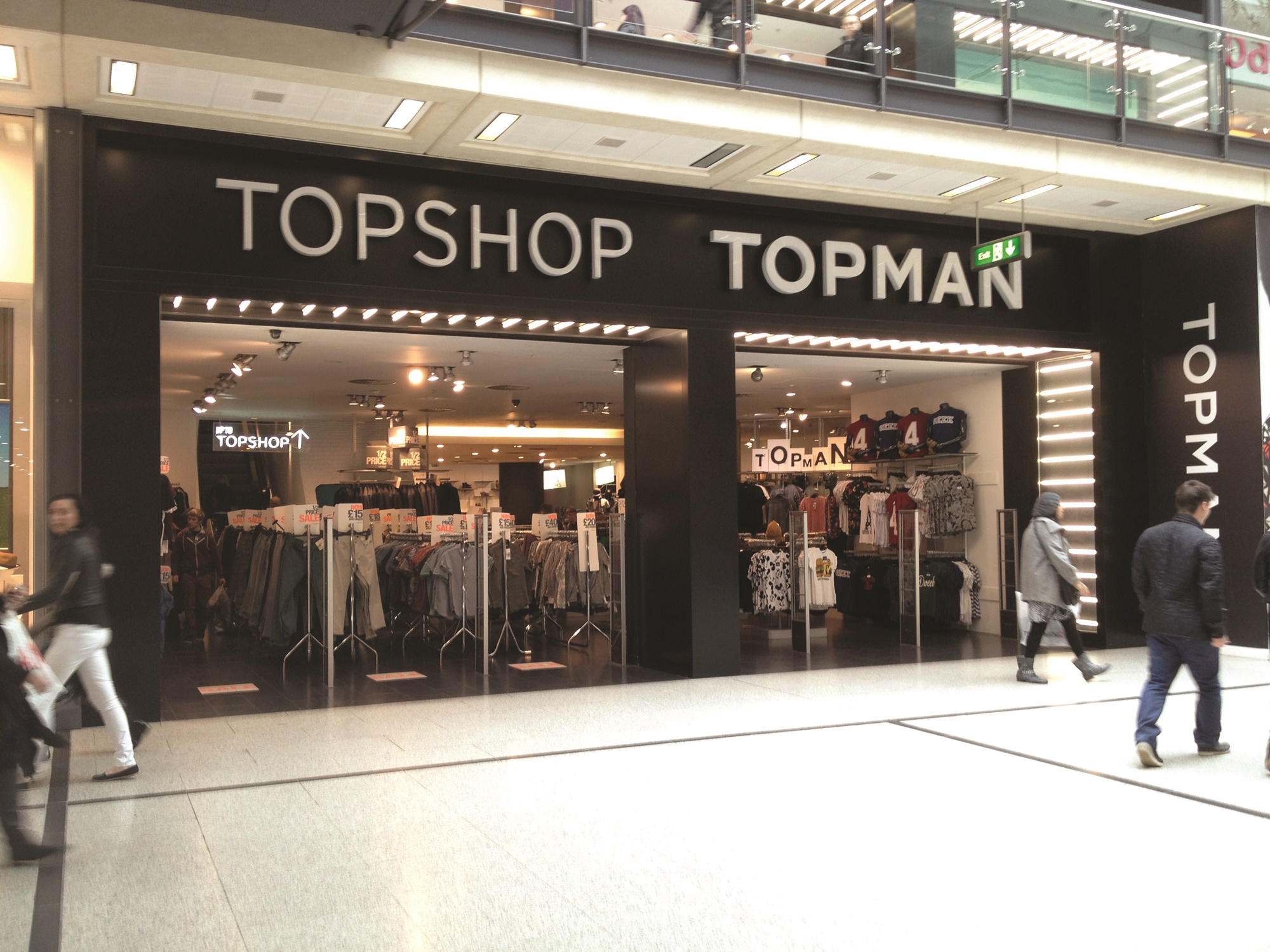 Topshop fashion retail store